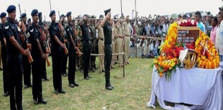 Shaheed Manoj Singh's funeral with state honor