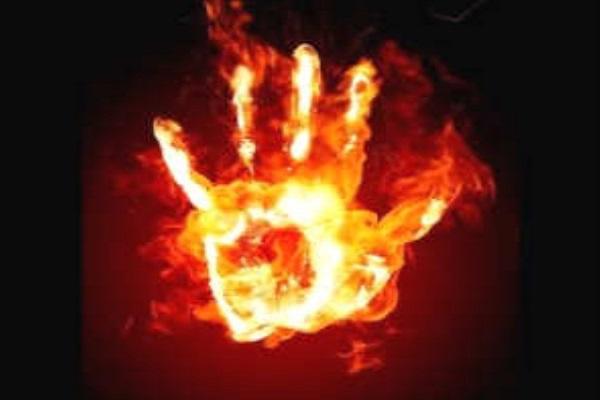 Uttar Pradesh Teenager gave himself fire