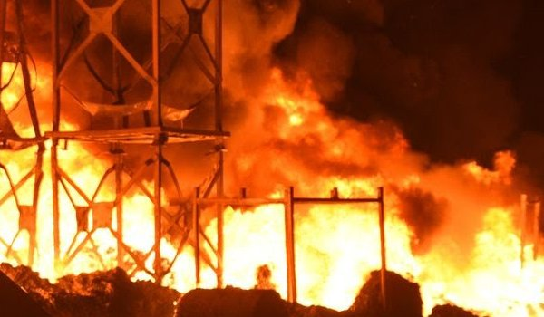 massive fire breaks out at Three godowns in Alwar