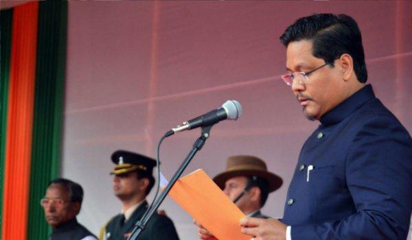 Conrad Sangma takes oath as chief minister of Meghalaya