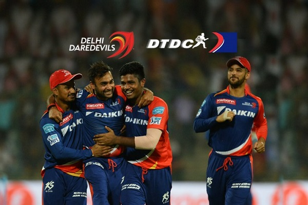 Courier service provider company DTDC join Logistic partnership with Delhi Daredevils