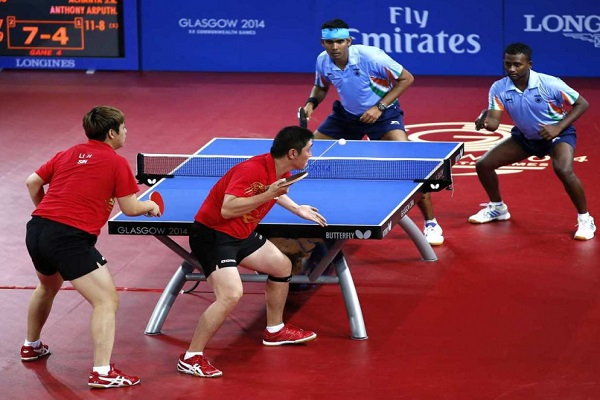 Men gold medal of 21st Commonwealth Games table tennis win by India