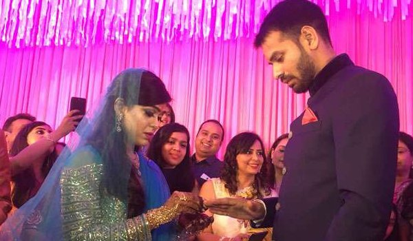 engagement ceremony of tej pratap yadav and aishwarya rai in patna