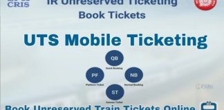 train general ticket through UTS App at home