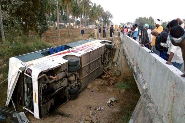 30 people injured in road accident in Dausa district of Rajasthan state road transport bus