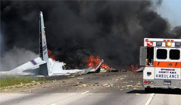 9 killed after US Military cargo plane crashes in Savannah, Georgia