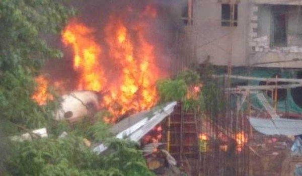 Chartered plane crashes in Mumbai's ghatkopar, five killed