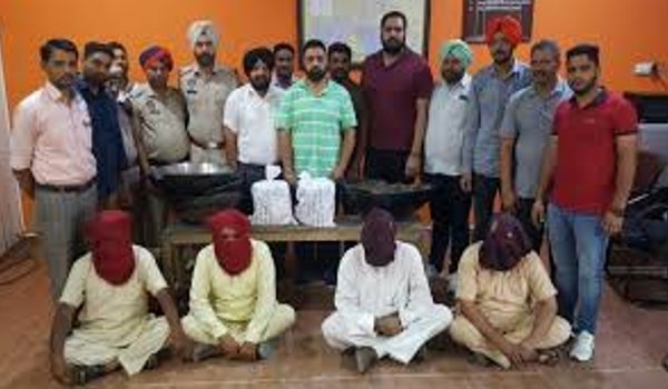 punjab police bust International drug racket, four arrested