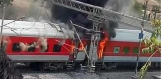 अमृतसर-लाल कुआं ट्रेन में अचानक आग लगी, बाल बाल बचे यात्री