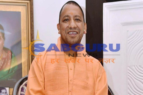 Yogi Adityanath, seen in the role of Guru, blessings given to the disciples