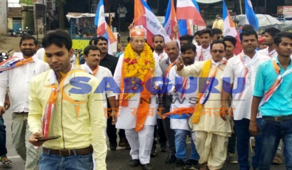 bharat vahini party rajasthan chief ghanshyam tiwari visits rajsamand