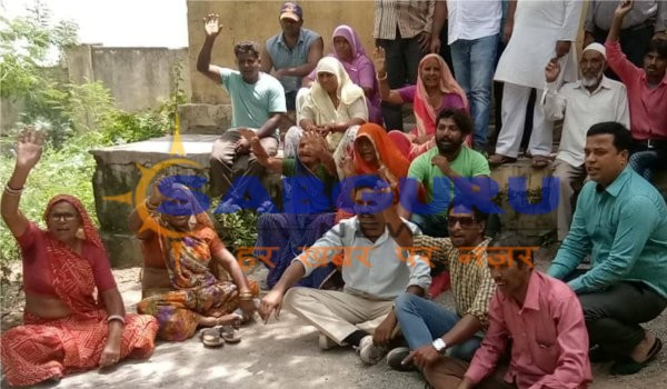 congress stage protest at Sethi colony pump house in ajmer over drinking water supply