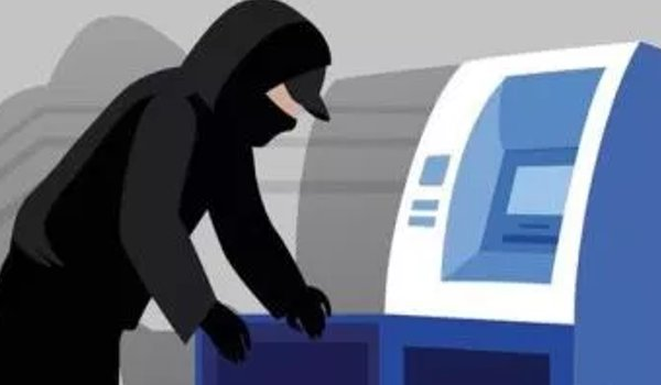 two unidentified men attempting loot cash from PNB  ATM in Ahmedabad