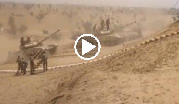 indian army Exercise Vijay Prahar in the Mahajan Field Firing Ranges