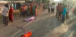 Four members family died in truck accident in Satna