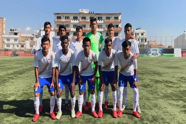 India won bronze medal defeating Nepal in under-15 football championship