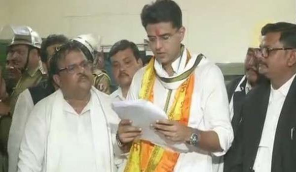 Rajasthan Congress President Sachin Pilot files nomination from tonk seat