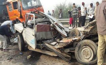 Eight people die in road accident in Haryana