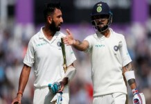 Virat Kohli tops ICC Test ranking and Pujara fourth