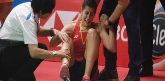 Olympic champion Carolina Marin injured out of badminton court for several months