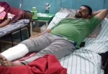 BJP divisional magistrate Magan Siddiqui injured in controversy in Jabalpur