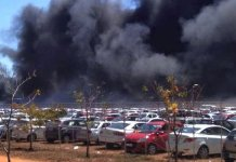 fire erupts at parking lot of Aero India show, 300 cars gutted