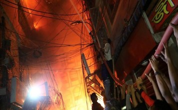 70 people killed in fire in building in Dhaka