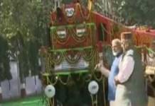प्रधानमंत्री मोदी ने देश के प्रथम परिवर्तित विद्युत रेल इंजन का किया लोकार्पण
