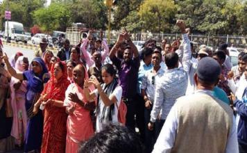 उदयपुर में सैनी से अभद्रव्यवहार करने के विरोध में माली समाज ने किया विरोध प्रदर्शन