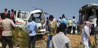 Seven people die in bus and auto collision in Nalgonda