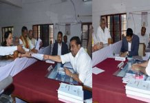 hema malini and rld candidate file nominations for mathura
