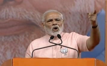 PM Modi blame congress contesting election by snatching poor bribe