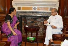 Ashok Gehlot meets Nirmala Sitharaman