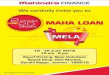 Mahindra Finance to organize 20-Wheeler Maha Lone Fair from 2-Wheeler in Jammu