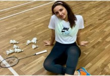 Parineeti Chopra learning Badminton these days