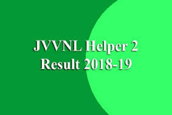JVVNL Helper 2 exam 2019 result releases