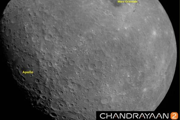 isro first moon image captured by chandrayaan-2