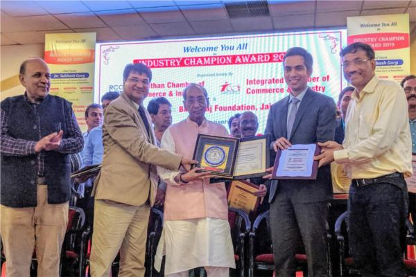 ruj group awarded by rajasthan chamber of commerce and industry