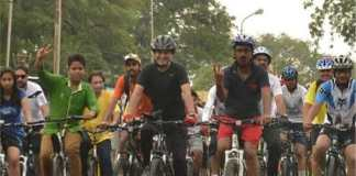 Bicycle rally of paramilitary forces from Jaisalmer leaves for Delhi