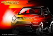Maruti suzuki released first official sketch of its new upcoming suv s-presso