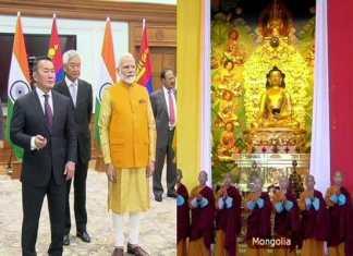 Modi unveiled statue of Lord Buddha in Mongolia, 3600 km from Delhi itself