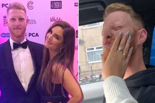 ben stokes wife dismisses report claiming the england all rounder choked her