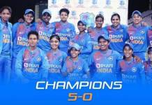 Indian women's team beat West Indies women's team 5-0