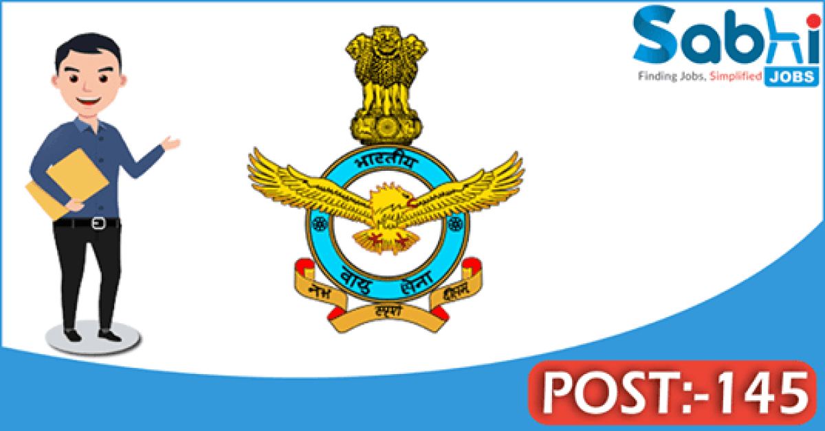 Indian Air Force recruitment 2018 notification Apply for 145 LDC, Hindi Typist