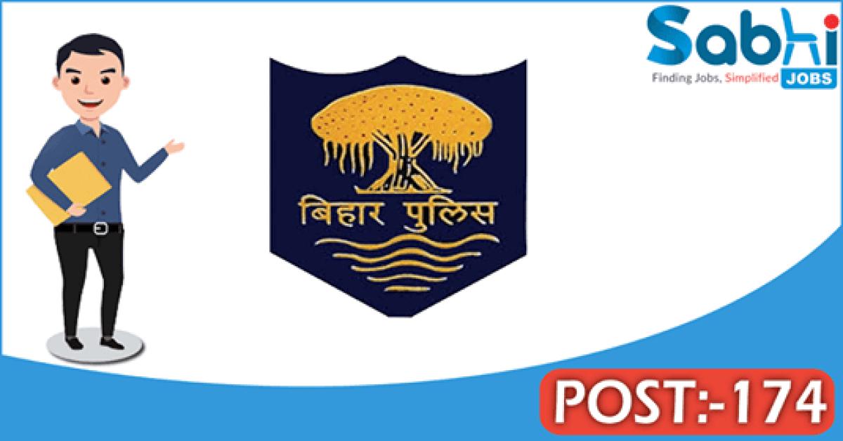Bihar Police recruitment 174 Steno Assistant Sub Inspector