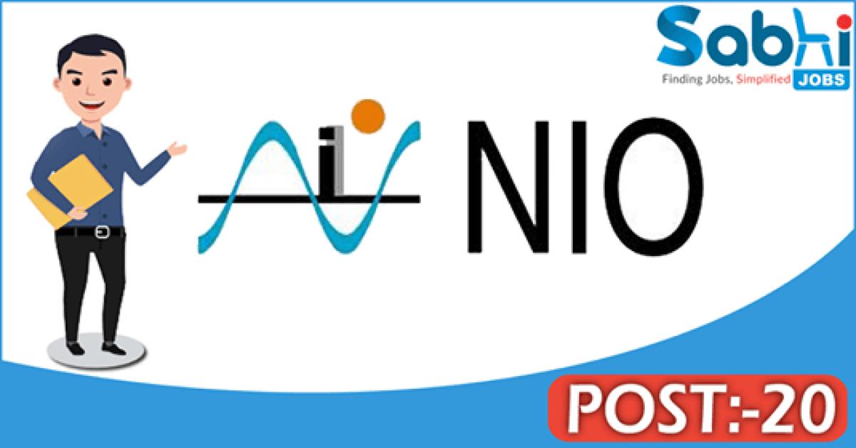 NIO Goa recruitment 20 Scientists