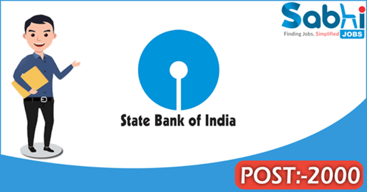 SBI recruitment 2000 Probationary Officers