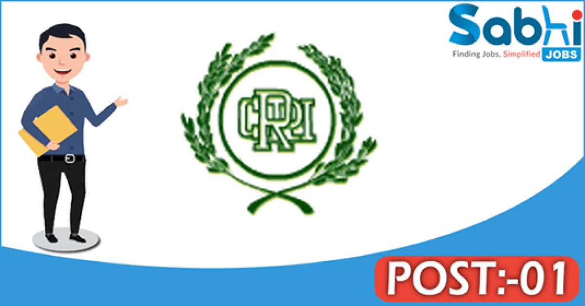 CRRI Cuttack recruitment 2018 notification Apply for 01 Business Executive