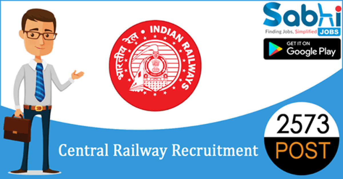 Central Railway recruitment 2573 Apprentice