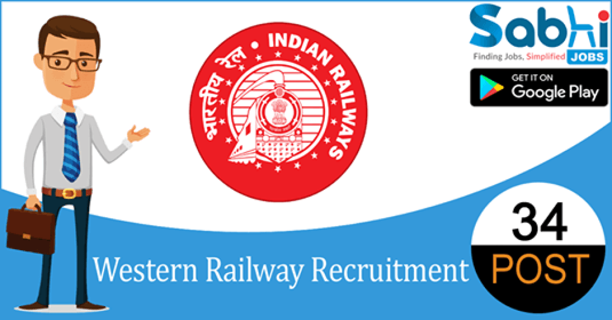Western Railway recruitment 34 Apprentice